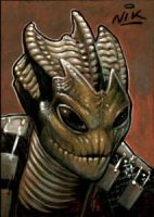 Doctor Who Silurian sketchcard by NIK-Nick