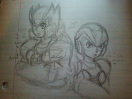 X and Zero doodle~ by JuXSu