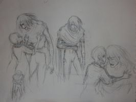 Sketches for Noein doujinshi 4 by erin-c-1978