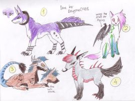 Adoptable batch 1, -ALL GONE- by Zhoid