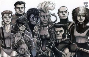 X-Men, Circa 1985 by olybear