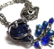 Space and Time Necklace no. 3 by sojourncuriosities
