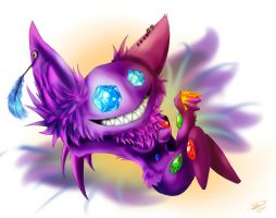 Commission 1ForSorrow2ForJoy ~ Female Sableye by Silverdart99