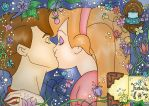 Thumbelina and Cornelius -Colored- by tellmeprettylies