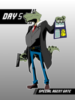 CDC Day 5 - Special Agent Gate by Zeurel