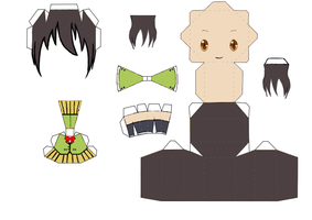 Misaki Papercraft template by groncaloncia