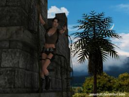 Lara Croft The Edge by JpauCroft