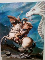 Napoleon and  Lung Tien Lien Crossing the Alps by GlassEyeSphynx