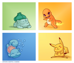 Pokemon Starters by Aresin
