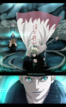Naruto 630 - Right on time dad! by RamzyKamen