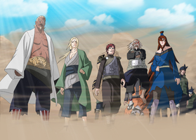 Naruto 562 - The Kage gather by ernie1991