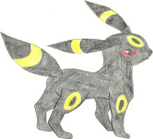 Umbreon, fifth eeveelution by hellogoodbye1121
