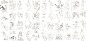 47 line drawings - Shanxi(China) by Wavesheep