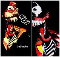 Spiderwoman transformet to Venom ^^ by Babinske