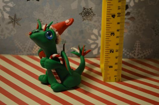 Candy Cane Holly Dragon by TalesandFire
