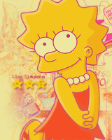 Vertical Banner Lisa Simpson by Harukamizuno