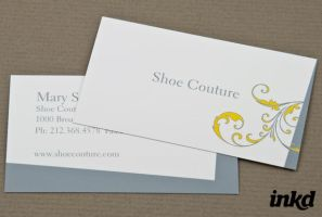 Shoe Boutique Business Card by inkddesign