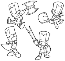 Castle Crashers Inked by StacMaster-S