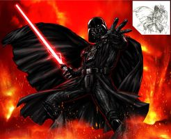 Star Wars - Darth Vader Illo by marvisionart