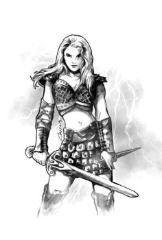 Warrior woman by pasztel