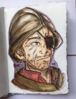 Sergeant Keel, or should I say Samuel Vimes? by MegaMaeve