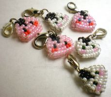 Beaded Onigiri Charm by Seregitum