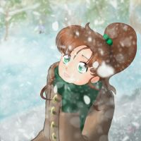 Makoto Kinos Snow Day by ConnerKonEl