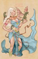 Mother of Dragons color by MichaelDooney