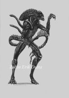 "Warrior Xenomorph ""Alien"" by amorousdino"