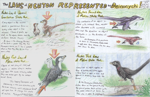 Newton Raptor Poster by Grays-raptor-flock