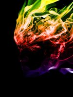 Face of smoke in colour by At0micDrag0n