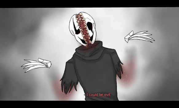 UnderLoss Gaster I could be evil by DarkPastries