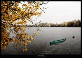 Autumn boat by Gustavs