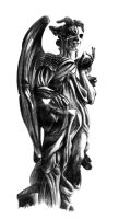 Angels and Demons Statue by azazelix