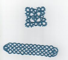 Tatting: bookmark and  square by Engelina-c