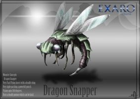 Exaro Monster Concept - Dragon Snapper by AaronQuinn