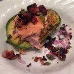 Grilled Avocado with Salmon by chef-chad