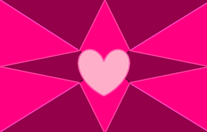 Pink Hearts and Stars by GothicRockerGirl