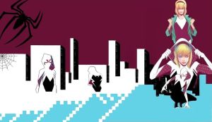 Spider-Woman (Gwen Stacy) Wallpaper. by algo448
