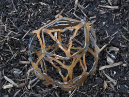 Rusty Oval by Metal-Sculpture