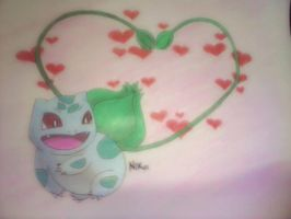 Not too late for Valentines Bulbasaur! :) by mypokeart