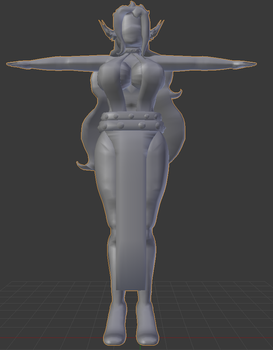 Legion Queen Althea 3D Model (Untextured) by Nero-The-Lime