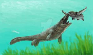 Mosasaur's Meal by olofmoleman