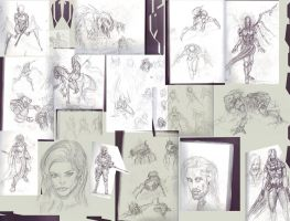 Train Rides sketchbook 7 by AdrianNagorski