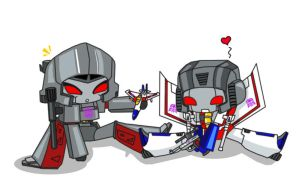 Megatron and Starscream play by YukiMiyasawa