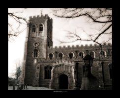 IR - old clock tower by Raymate