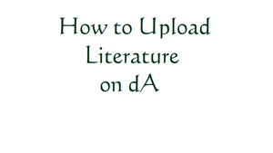 How To (Literature) by Gingersanps