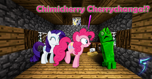 Chimmy-Creeper-Changa: Pinkie meets a creeper! by TabbyDerp