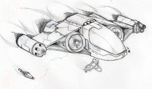 Space Fighter class Drakon by orcbruto