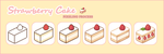 Strawberry Cake Pixel Process by Kiyorin